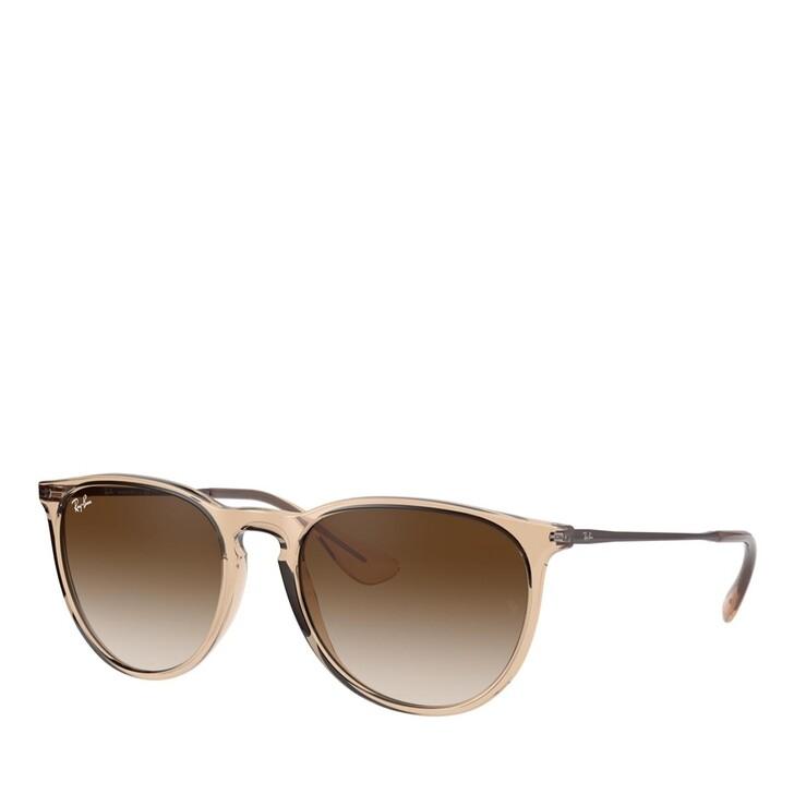 sunglasses, Ray-Ban, NYLON UNISEX SONNE TRANSPARENT LIGHT BROWN
