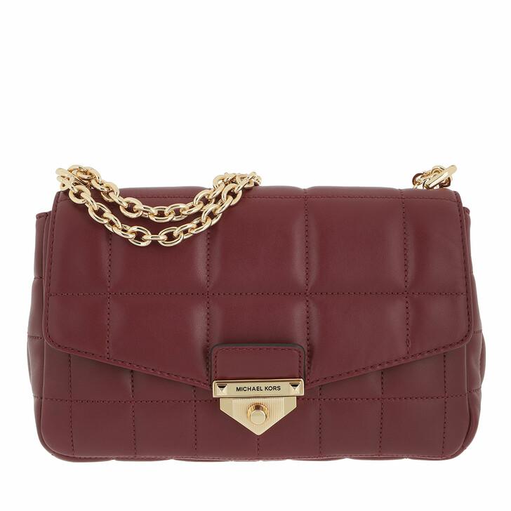 bags, MICHAEL Michael Kors, Large Chain Shoulder Dark Berry