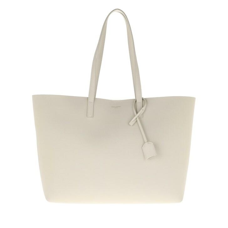 Handtasche, Saint Laurent, East West Medium Tote Leather Crema Soft