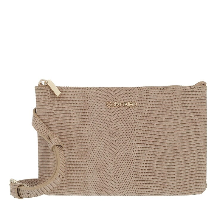 bags, Calvin Klein, CK Must Ew Double Cpt Xbody Liz Taupe