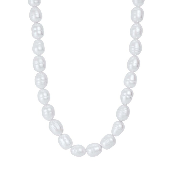 Kette, BELORO, Necklace Pearls T-Bar  Yellow Gold