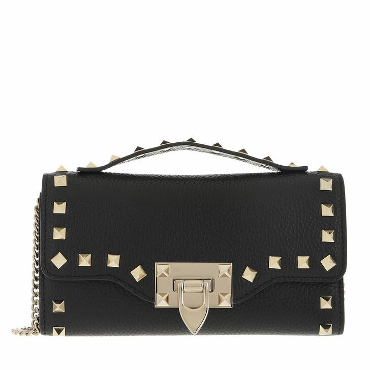 wallets, Valentino Garavani, Rockstud Wallet On Chain Black