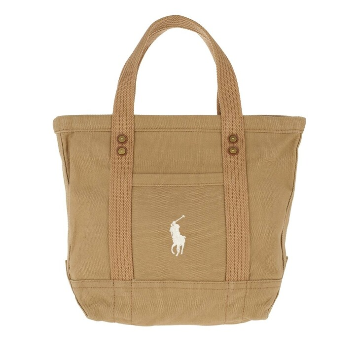 Handtasche, Polo Ralph Lauren, Small PP Tote Bag Khaki