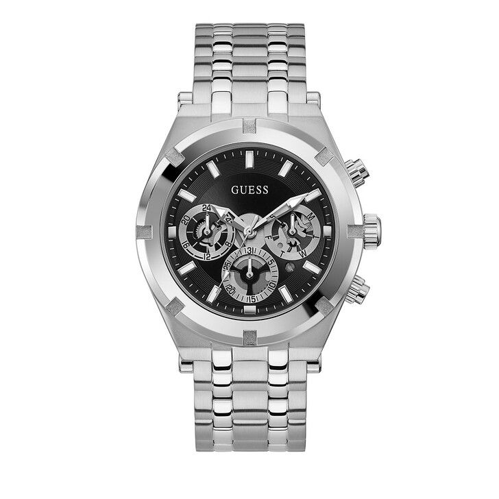 Uhr, Guess, MENS SPORT WATCH Silver Tone