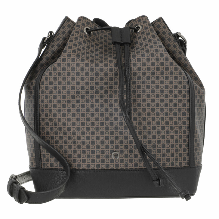 bags, AIGNER, Adria Bucket Bag Dadino Brown