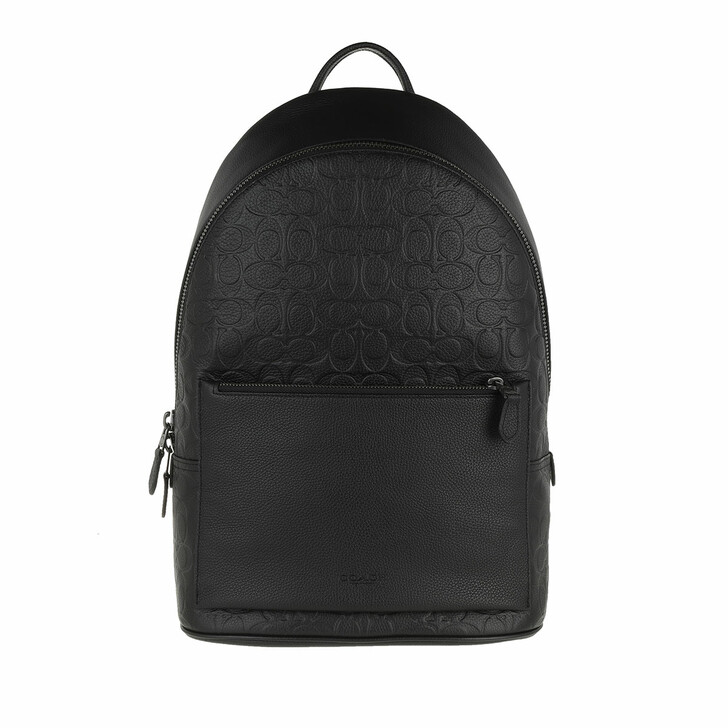 bags, Coach, Metropolitan Soft Backpack In Signature Pebble Lea Qb/Black