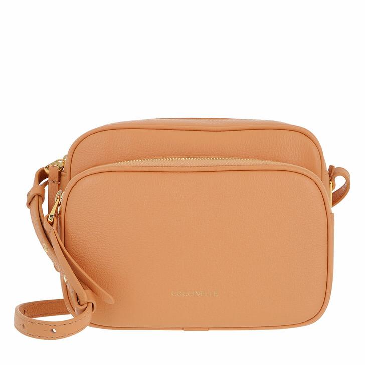 bags, Coccinelle, Lea Handbag Grained Leather  Almond