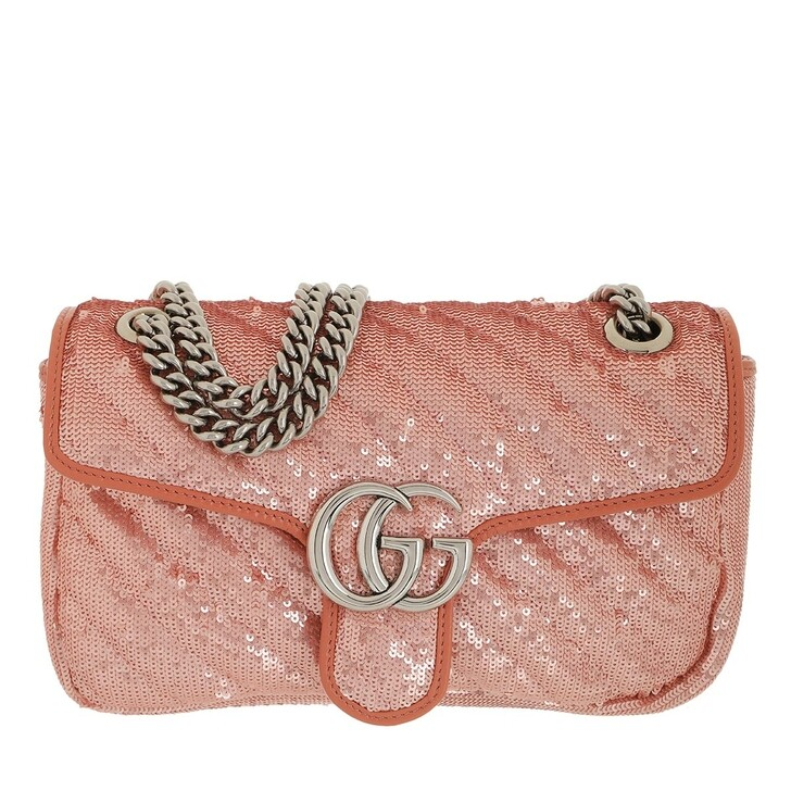 Handtasche, Gucci, GG Marmont Small Crossbody Bag Sequins Rose