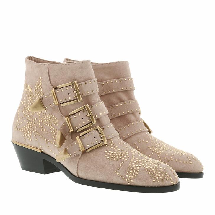 shoes, Chloé, Susanna Boots Suede Maple Pink
