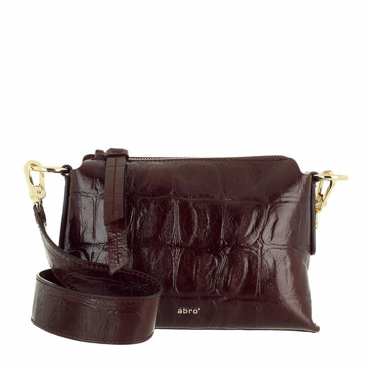 bags, Abro, Crossbody Bag JULIE  Dark Brown