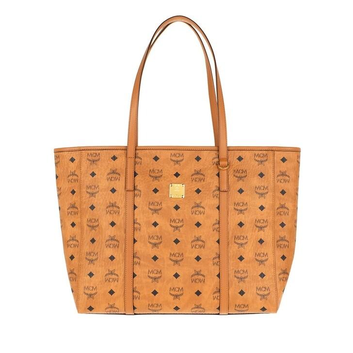 bags, MCM, Toni Visetos Shopper Medium Cognac