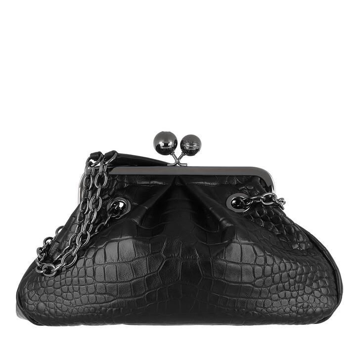 bags, WEEKEND Max Mara, Ovatta Handbag Black