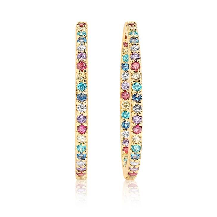 Ohrring, Sif Jakobs Jewellery, Bovalino Earrings Multicoloured Zirconia 18K Gold Plated