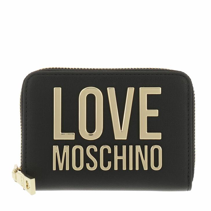 wallets, Love Moschino, Portafogli Bonded Pu  Nero