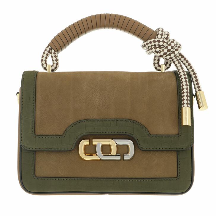 bags, Marc Jacobs, The J Link Twist Shoulder Bag Suede Dark Green