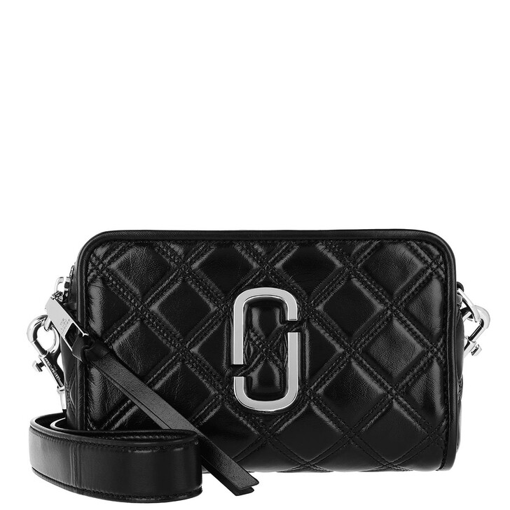 bags, Marc Jacobs, The Soft Shot 21 Leather Black