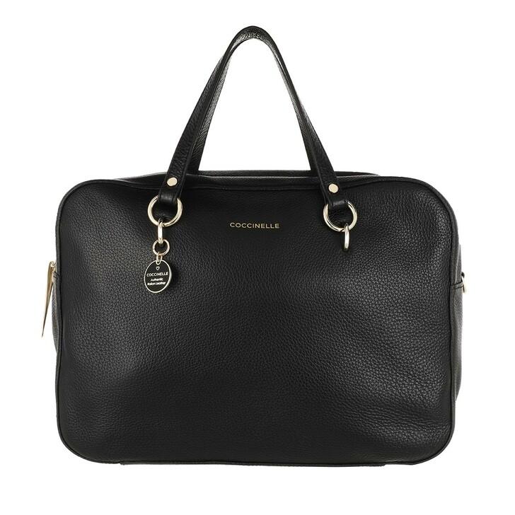 bags, Coccinelle, Handle Bag Grained Leather Noir