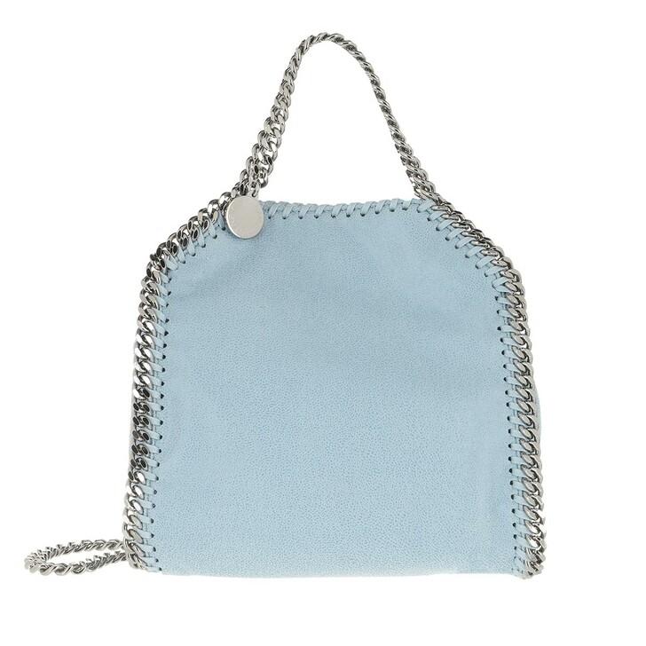 Handtasche, Stella McCartney, Tiny Falabella Shaggy Deer Light Blue