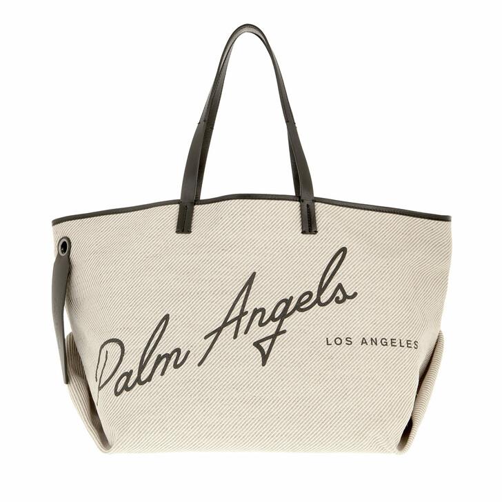 bags, Palm Angels, La Shopping Cabas Bag Off   White Black