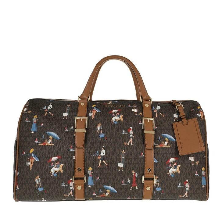 bags, MICHAEL Michael Kors, Xl Weekender Travel Item   Brown Multi