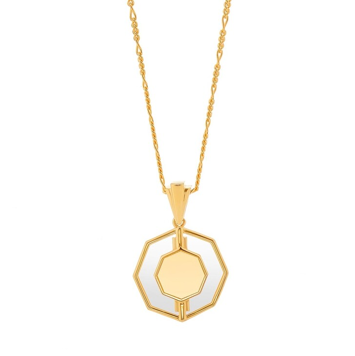 Kette, V by Laura Vann, Kim Glass Necklace Yellow Gold