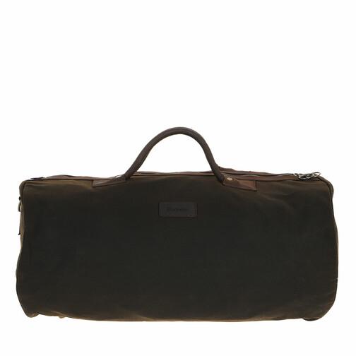 barbour -  Reisegepäck - Wax Holdall - in grün - für Damen