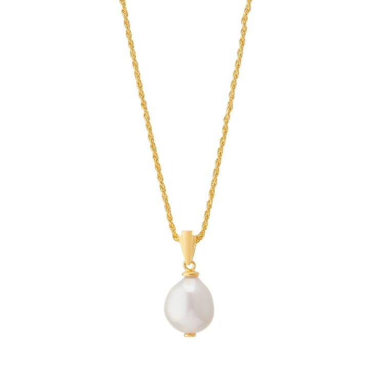 Kette, V by Laura Vann, Coco Pearl Necklace Paroque Parl/Yellow Gold