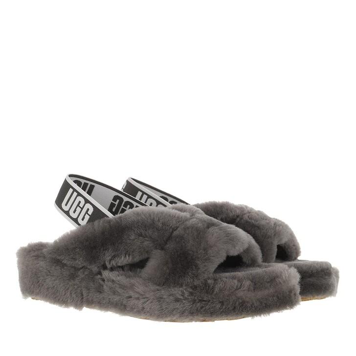 Schuh, UGG, Fab Yeah Slipper Charcoal