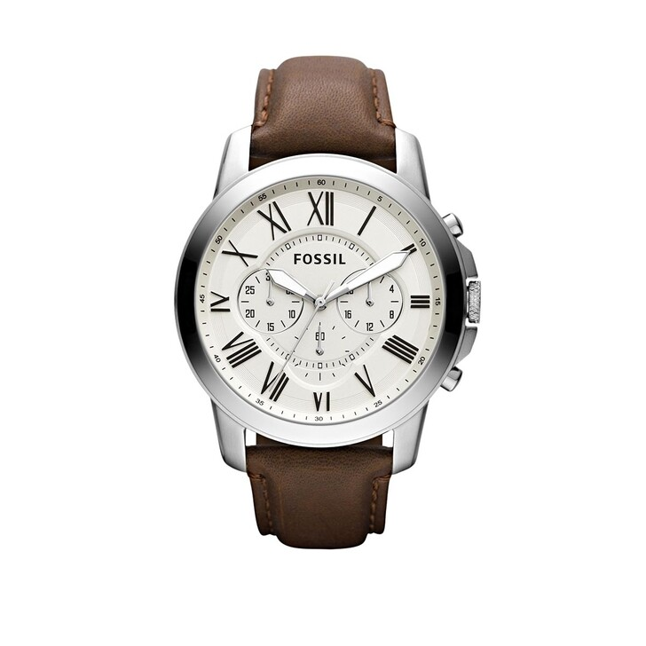 watches, Fossil, Grant Dress Watch Silver