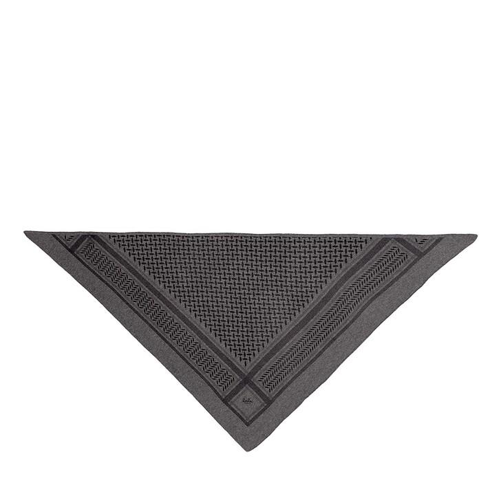scarves, Lala Berlin, Triangle Trinity Classic M Lubecca Dark Grey Melange
