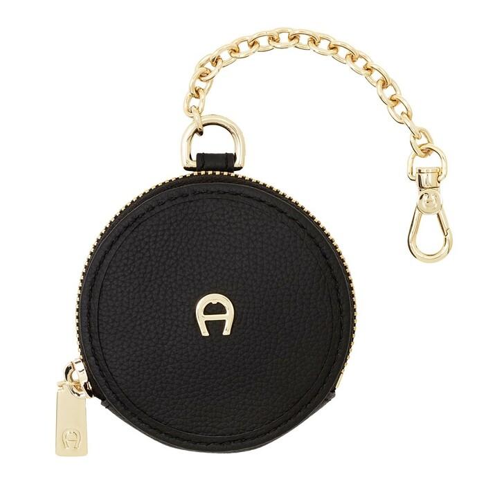 Geldbörse, AIGNER, Fashion Round Etui Pendant Black