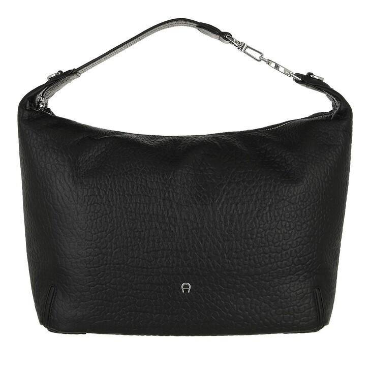 bags, AIGNER, Palermo Bucket Bag Black