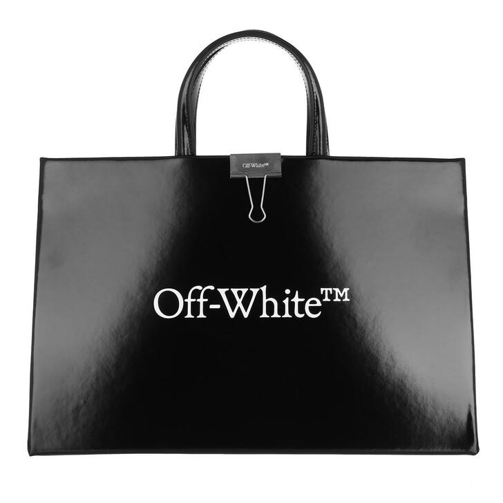 bags, Off-White, Logo Medium Box Bag  Black White