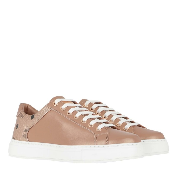 shoes, MCM, Lace Up Sneakers Champagne Gold