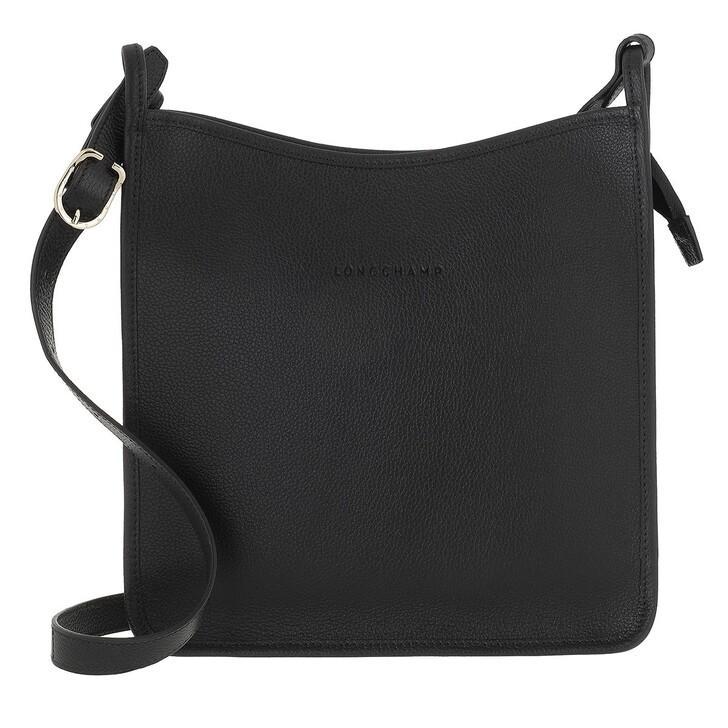 bags, Longchamp, Le Foulonné Crossbody Bag Black