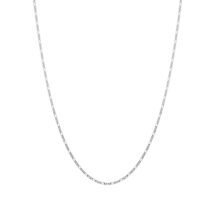 "Kette, V by Laura Vann, Rhodium Plated 18"" Figaro Chain Silver"