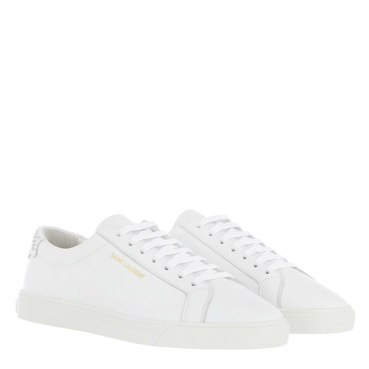 Schuh, Saint Laurent, Low Top Sneakers Leather White