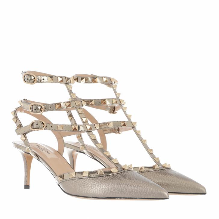 Schuh, Valentino Garavani, Rockstud 3 Ankle Strap Pump Sasso