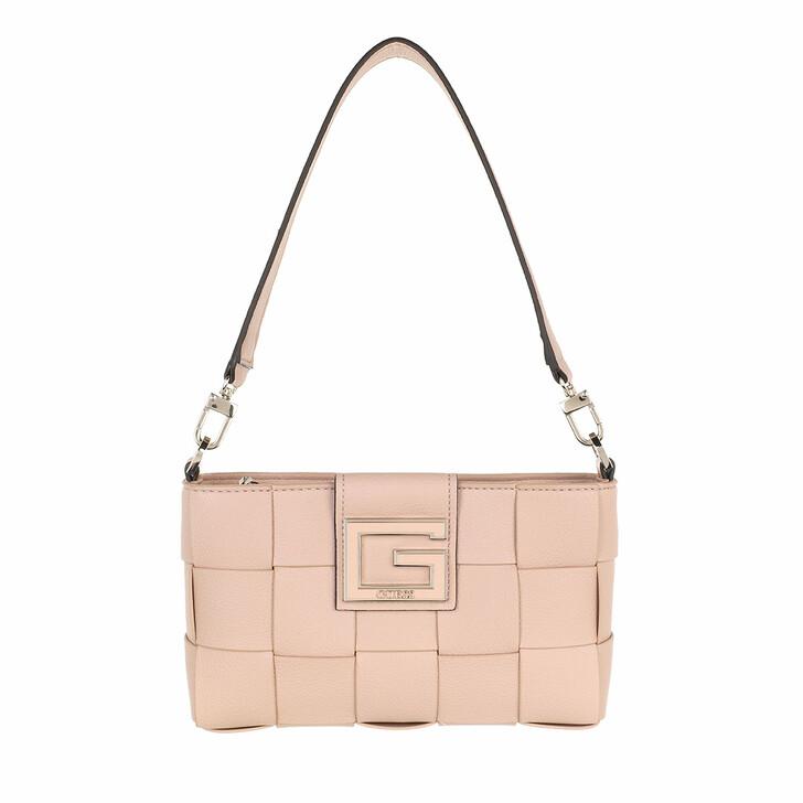 bags, Guess, Liberty City Top Zip Shoulder Bag Almond