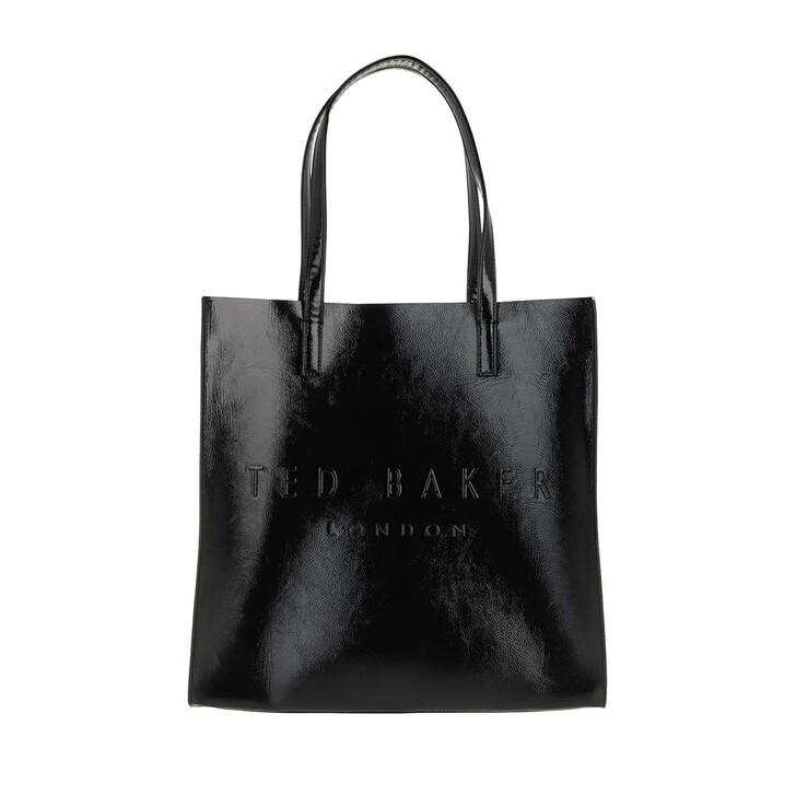 Handtasche, Ted Baker, Abzcon Crinkle Embossed Shoulder Bag Large Black