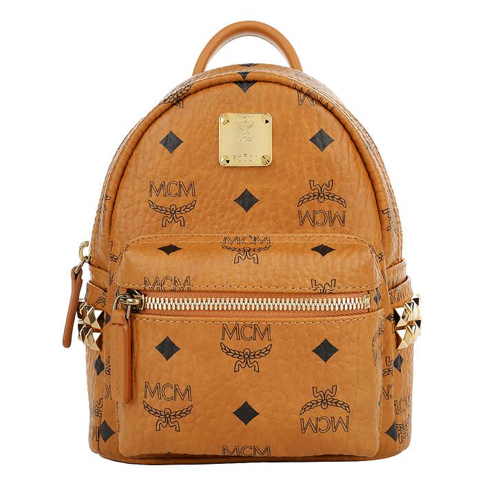 bags, MCM, Stark Backpack Xmini Cognac