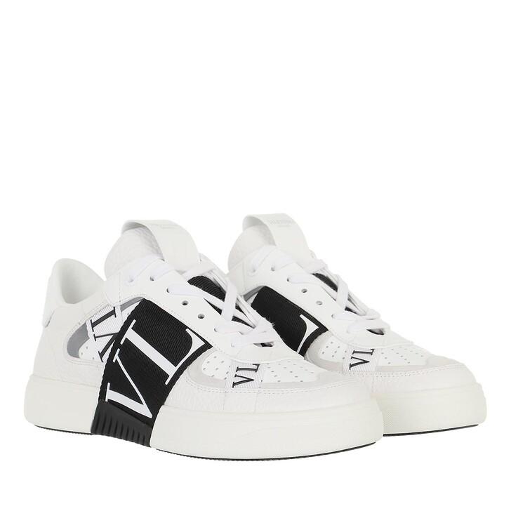 shoes, Valentino Garavani, VLTN Low Top Sneakers Calf Leather White Black