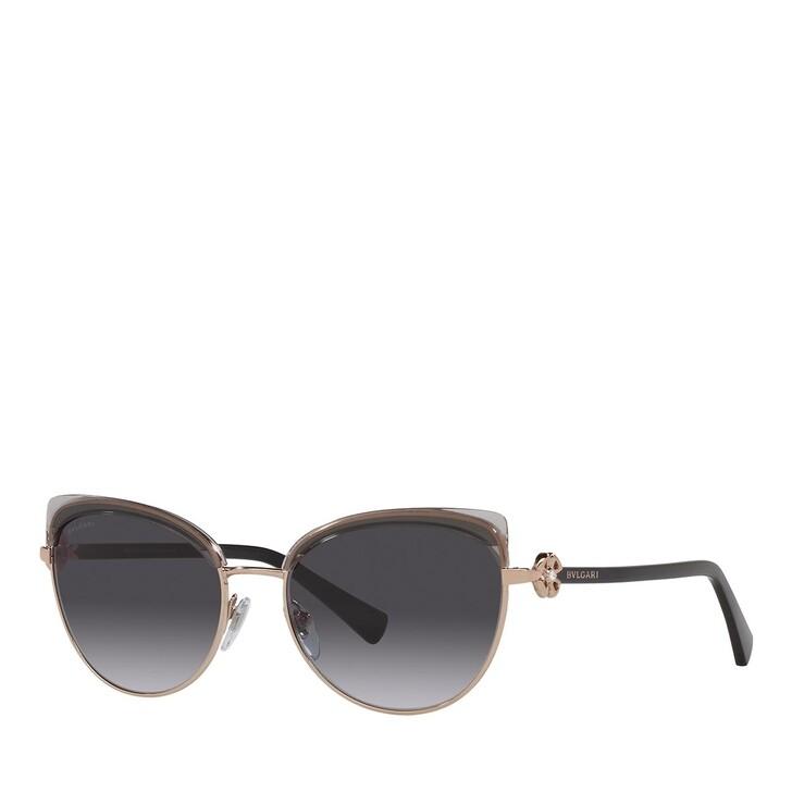 sunglasses, BVLGARI, 0BV6158B PINK GOLD/TRANSPARENT GREY