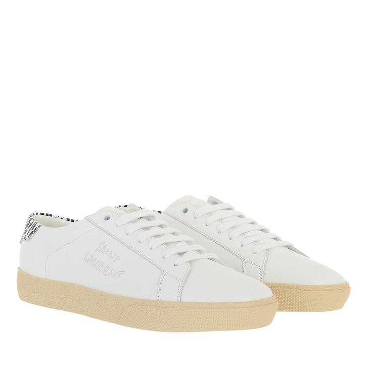 shoes, Saint Laurent, Signat Sneakers Leather White