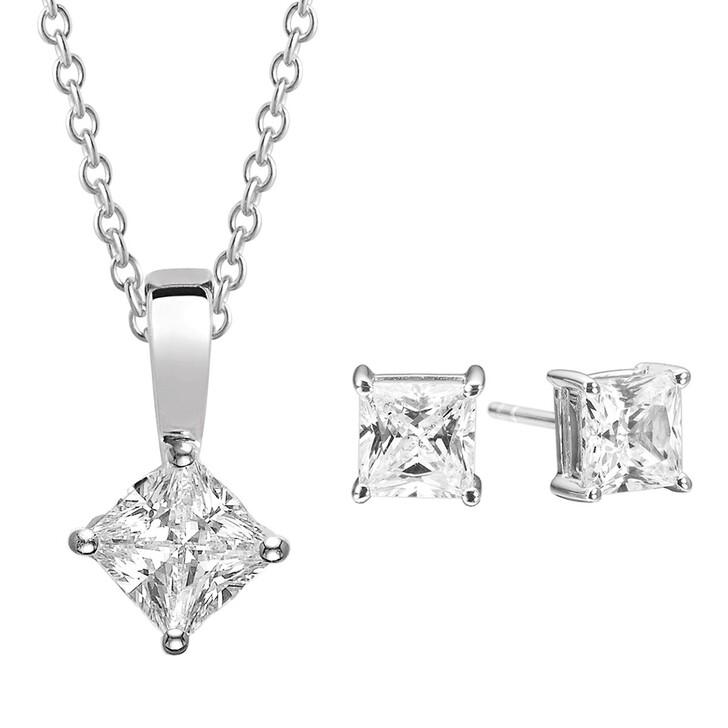 Kette, Sif Jakobs Jewellery, Princess Square Set Silver