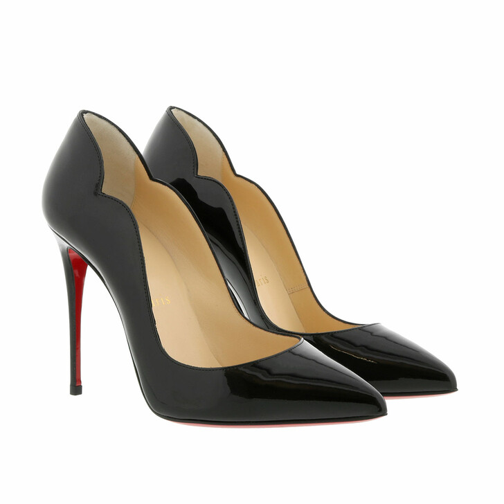 shoes, Christian Louboutin, Hot Chick Patent Pumps 100 Leather Black
