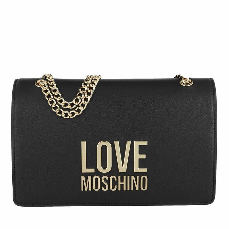 Handtasche, Love Moschino, Borsa Bonded Pu  Nero
