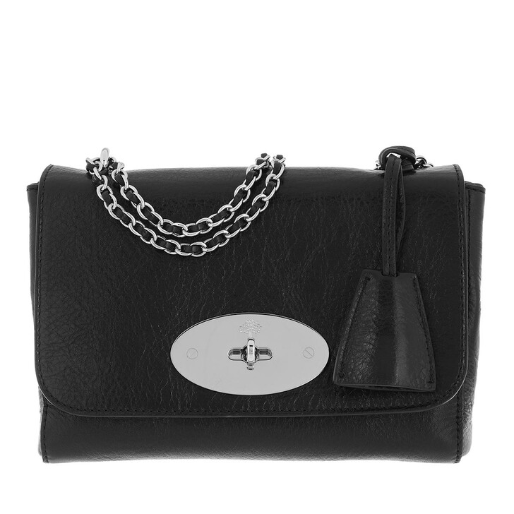 bags, Mulberry, Lily Crossbody Bag Leather Black