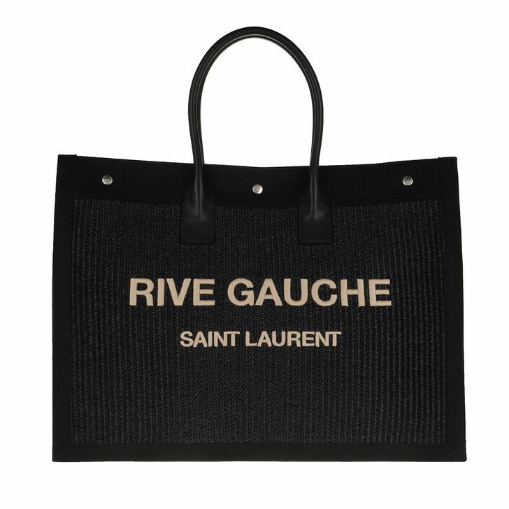 bags, Saint Laurent, Rive Gauche Tote Bag Black
