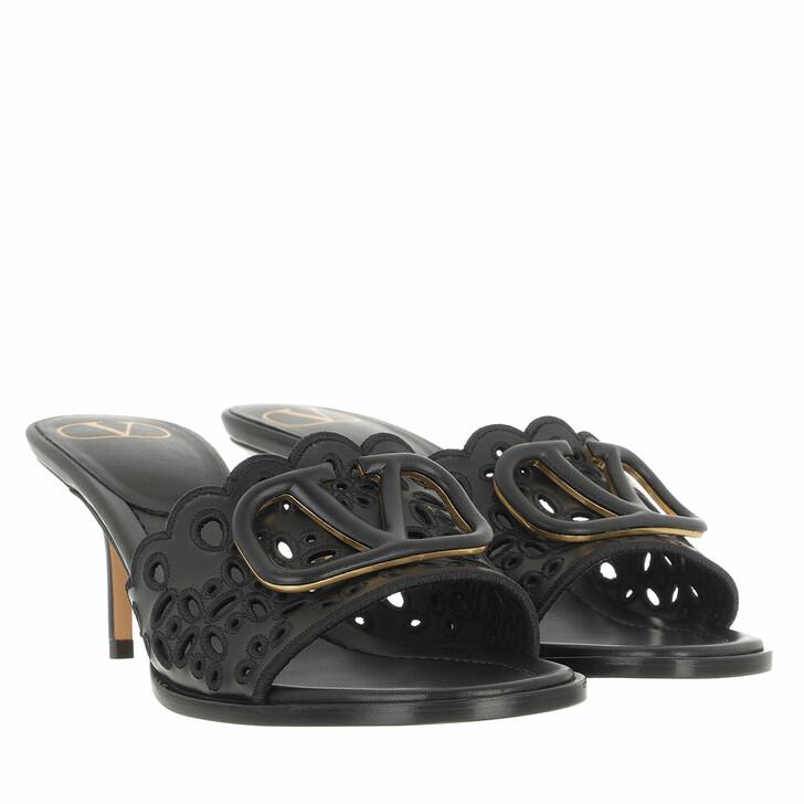 shoes, Valentino Garavani, VLogo Signature Slingback Pumps Black